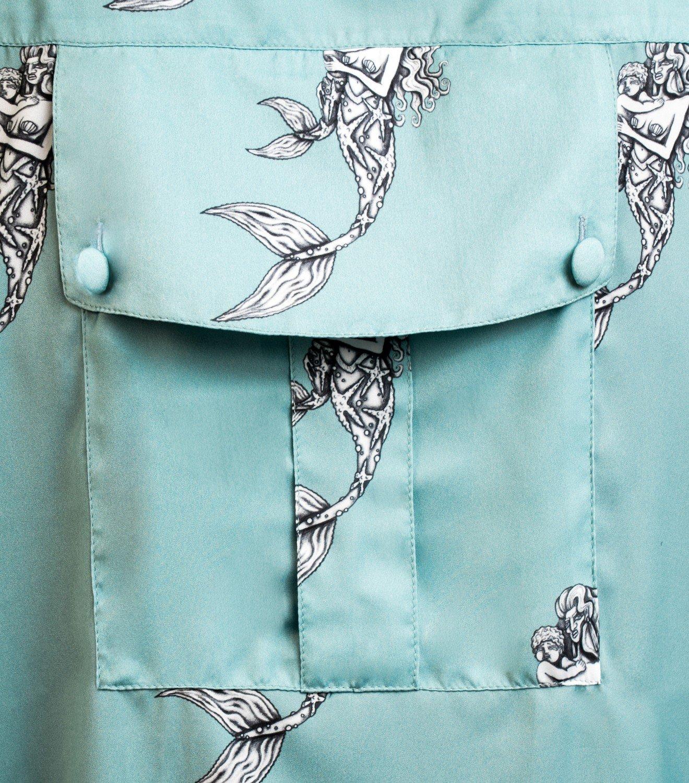 REAMEREI: camicia in seta con stampa sirena 7