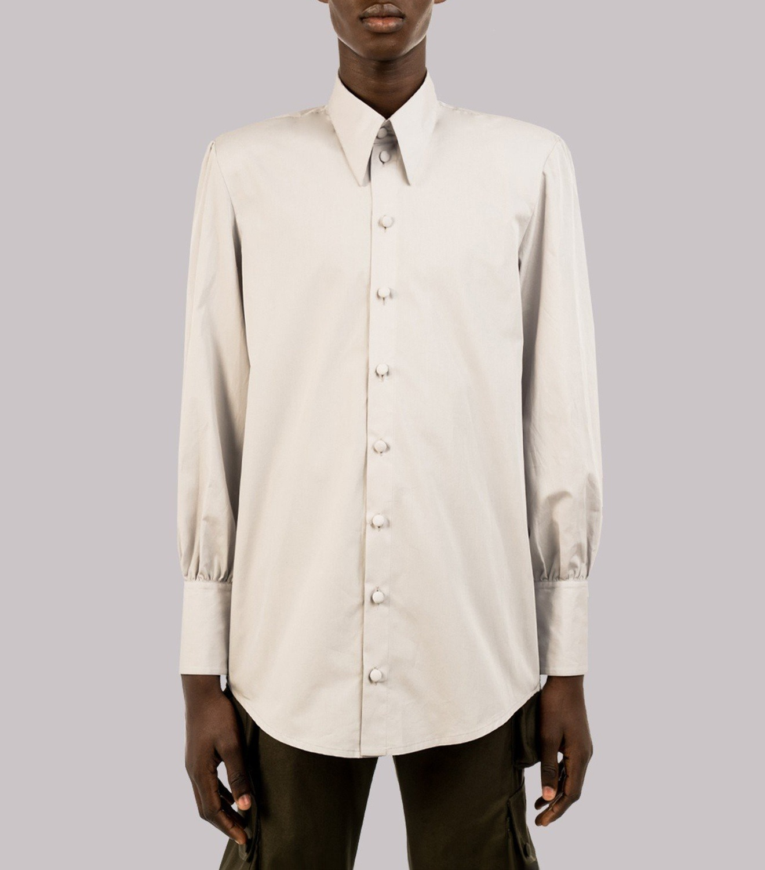 REAMEREI: camicia popeline grigia 12