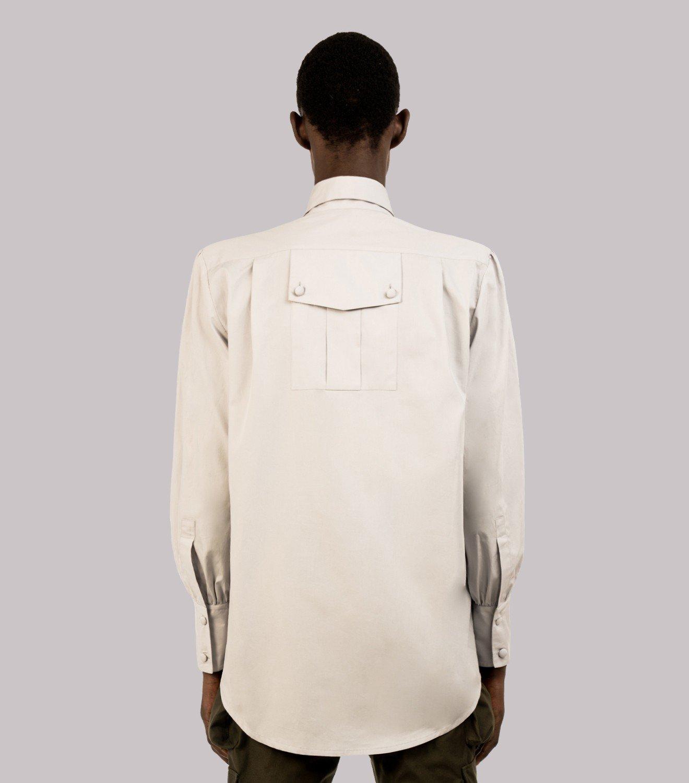 REAMEREI: camicia popeline grigia 4