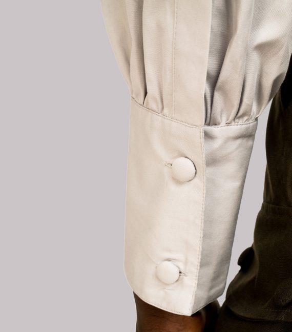 REAMEREI: camicia popeline grigia 6