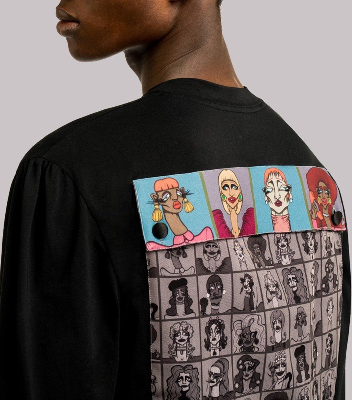 REAMEREI: t-shirt con stampa e tasca posteriore 9