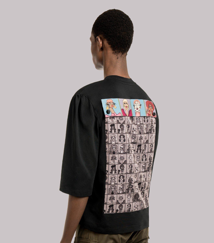 REAMEREI: t-shirt con stampa e tasca posteriore 3