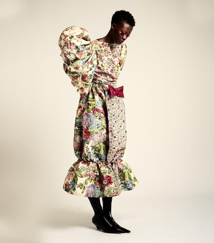 REAMEREI: abito rigenerato in broccato e tapestry 'Bourgeon du Paradis'