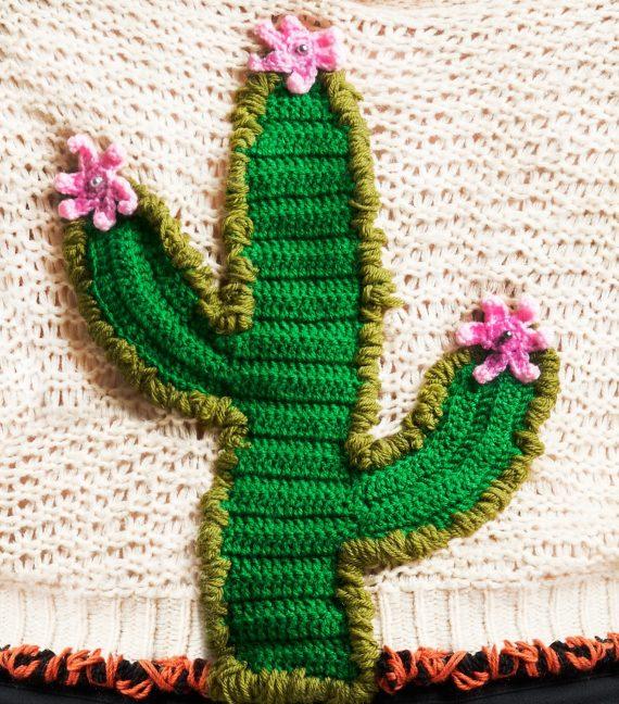 REAMEREI: maglione rigenerato con ricami 'Solsitia' 2