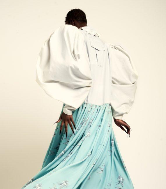 REAMEREI: abito in popeline e stampa 'Posidonia' 3