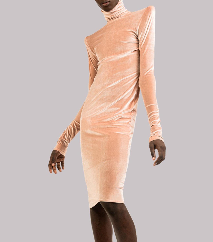 REAMEREI: tubino in velluto rosa 1