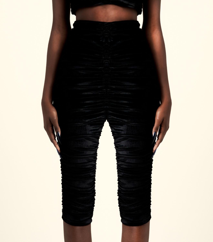 REAMEREI: shorts in velluto nero